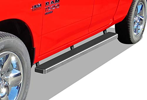 APS iBoard (304 Stainless Steel Polished Silver 5 inches) Running Boards | Nerf Bars | Side Steps | Step Rails Compatible with 2009-2018 Dodge Ram 1500 Quad Cab Pickup 4-Door