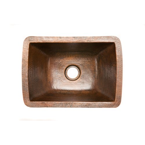 Premier Copper Products BRECDB2 Universal Rectangle Copper Bar Sink with 2-Inch Drain Size, Oil Rubbed Bronze by Premier Copper Products (Image #1)