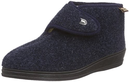 Manitu 370028, Women's Warm Lined high House Shoes Blue (Marine 5)