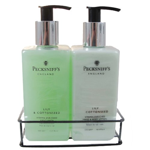 : Pecksniffs Lily & Cottonseed Hand Wash and Body Lotion Set