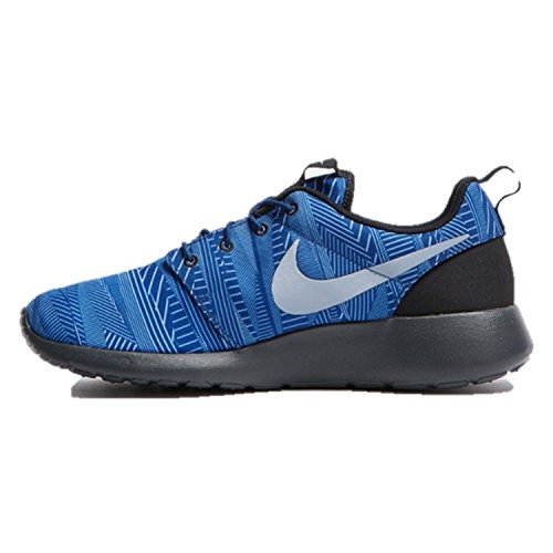 NIKE 655206 Mens Roshe One Print, Stylish and Comfortable Casual Sneakers Coastal Blue/Blue Grey-wolf Grey-black