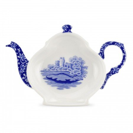 Spode Blue Italian Teabag Tidy / Spoon Rest S/4 by Spode (Image #1)