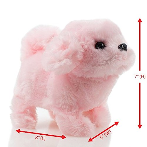 Toysery Puppy Plush Dog Toy for Kids - Puppy Toy, Walks, Bar
