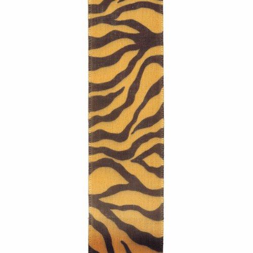 (Offray Tiger Craft Ribbon, 1 1/2-Inch x 9-Feet, Gold & Black)