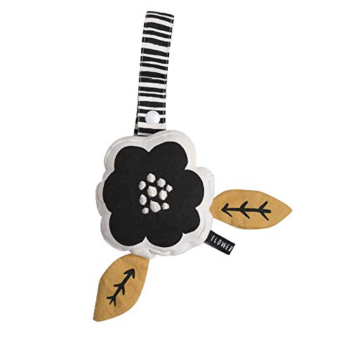 (Wee Gallery, Flower Stroller Toy with Crinkle, Organic Cotton )