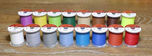 Hitena STWRAP Rod Wrapping Thread - NCP (No Color Preserver) Winding Thread. Easiest Wrapping Thread. Sits Perfect Flat. Less Fuzzy. Color Never Fades Under UV Lifetime ()