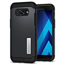 Galaxy A5 Case 2017, Galaxy A5 2017 Case, Spigen Slim Armor - Air Cushion Technology and Hybrid Drop Protection with Kickstand for Samsung Galaxy A5 (2017) - Metal Slate