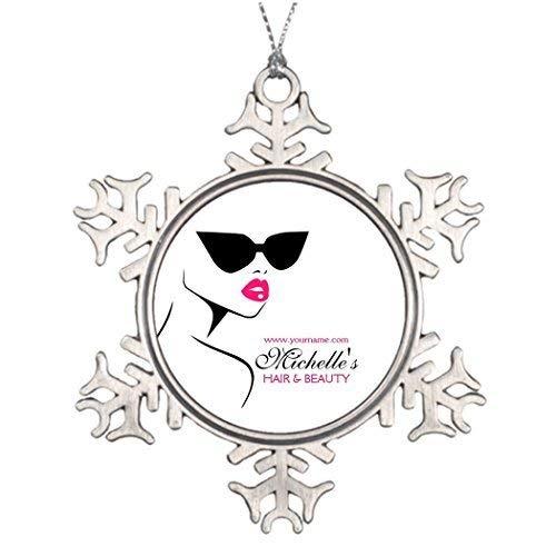 EvelynDavid Snowflake Ornament Ideas Decorating Christmas Trees Retro Sunglasses Hair Beauty Make up Branding Halloween Snowflake Ornaments -