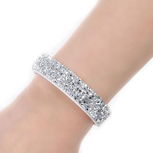 Sexy Sparkles Suede Velvet Slake Bracelet With Rhinestones (Clear ) Suede Fashion Bracelet