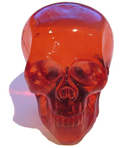 (Kool Collectibles Clear Red Skull Shifter Shift Knob Rat Rod Lever)