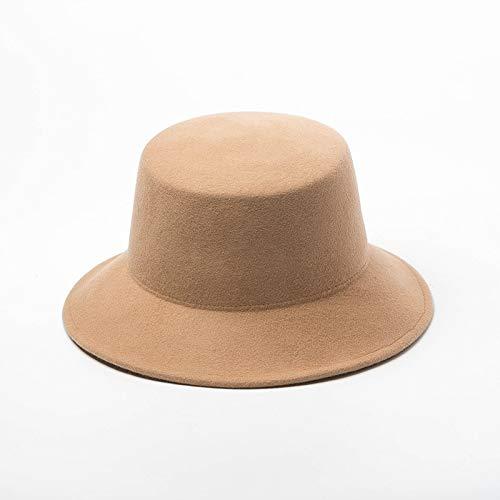 AMYNI Shop Solid Brim Bucket Cap Men Women Holiday Leisure Fisherman hat Khaki