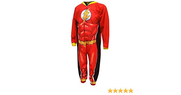 6b0af3cc07 Komar Kids Boys  DC Comics The Flash Fleece Sleeper Pajamas (8)  Amazon.ca   Clothing   Accessories