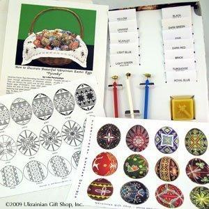 Super Color Kit for Decorating Ukrainian Easter Eggs (Delrin Kistky) by Ukrainian Gift (Egg Kit)
