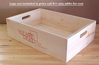 "Old fashioned Wooden Wine Box 19.5""x13.5""x5.5"" Inside"