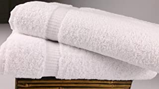 "SALBAKOS Turkish Luxury Hotel & Spa 30""x60"" Bath Sheet Set of 2 Turkish Cotton - OEKO-TEX Organic, Eco-friendly (Bath Sheets, White) (B00IM23ST8) 
