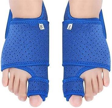 LHJ-fashion - Corrector de juanetes, 2 unidades, separador de dedos para dedos superpuestos, corrector de juanetes con soporte de arco para noche y día, férula de hallux valgus para alivio de juanetes