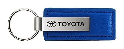 Blue Leather Key Chain - Au-Tomotive Gold, INC. Toyota Official Licensed Blue Leather Key Chain