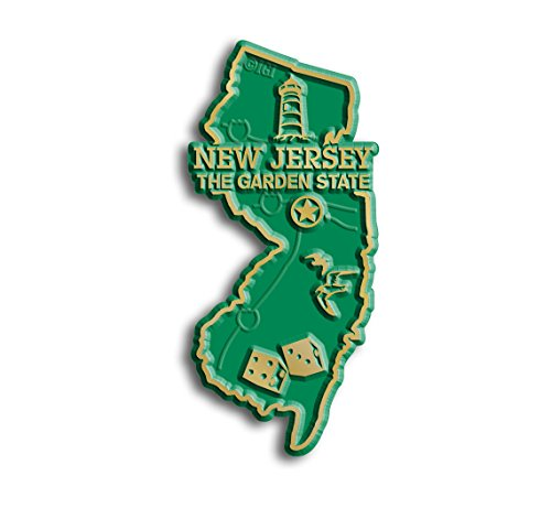 New State Map Jersey (New Jersey State Map Magnet)