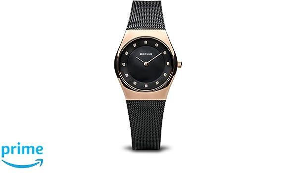 BERING Reloj Analógico para Mujer de Cuarzo con Correa en Acero Inoxidable 11927-166: Amazon.es: Relojes