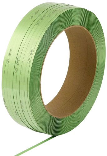 PAC Strapping 6840196G30W-AAR  3/4'' x .040'' Waxed AAR Approved Green Polyester Strapping for Most Friction Weld Tools, 3000' length by PAC Strapping Products