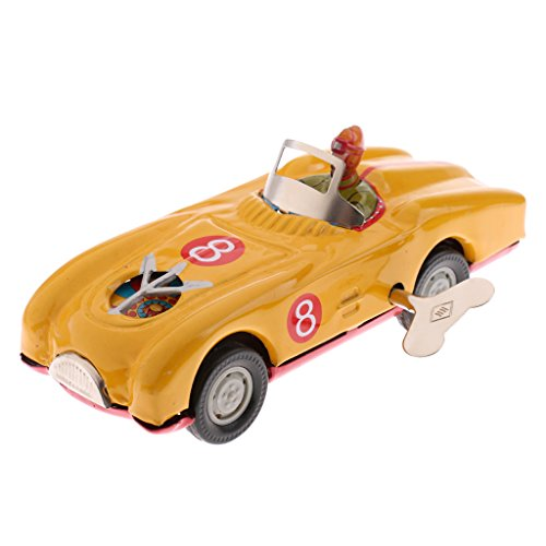 (MonkeyJack Vintage Mechanical Clockwork Wind Up Roadster Vehicle Car Collectable Tin Toy Home Ornaments)