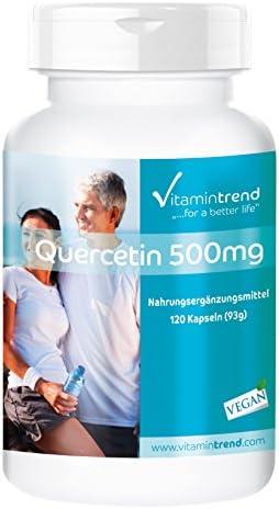 Quercetin 500mg Kapseln - hochdosiert - 120 Kapseln - Made in Germany - vegan - Antioxidans