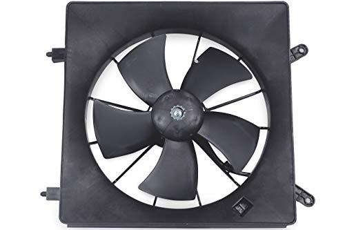 MYSMOT Left/Driver Side Radiator Cooling Fan Assembly For Honda CR-V 2002-2006 / Honda Element 2003-2011 (Number Of Blades:5) 19030-PNA-003