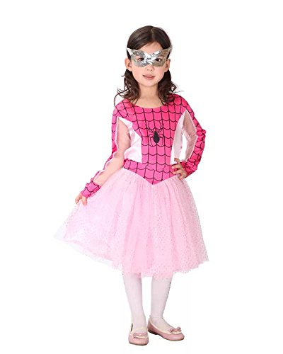 Spider Dance Costume (Flower.Princess Children's Halloween Spider Cosplay Costume Dance Performance Suit (M(110cm-120cm)))
