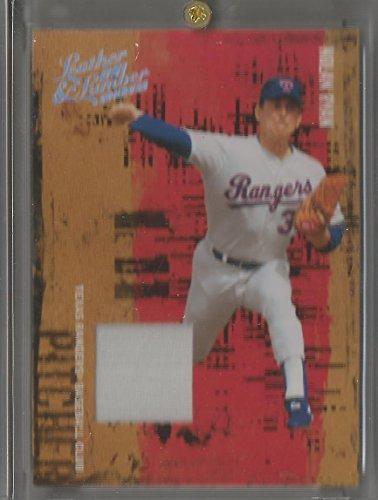 2005 Donruss Leather & Lumber Baseball Nolan Ryan Game Used Jersey Card # 43/250