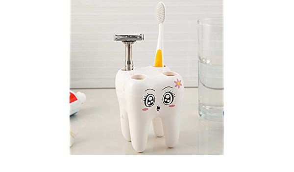 Recipiente para cepillos de dientes en forma de muela, para el baño, para regalo: Amazon.es: Electrónica