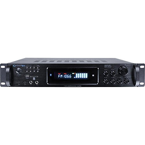 Technical Pro HB3502URIBT Digital Hybrid Amplifier with AM/FM Tuner, 3500 Watts, Bluetooth Compatible