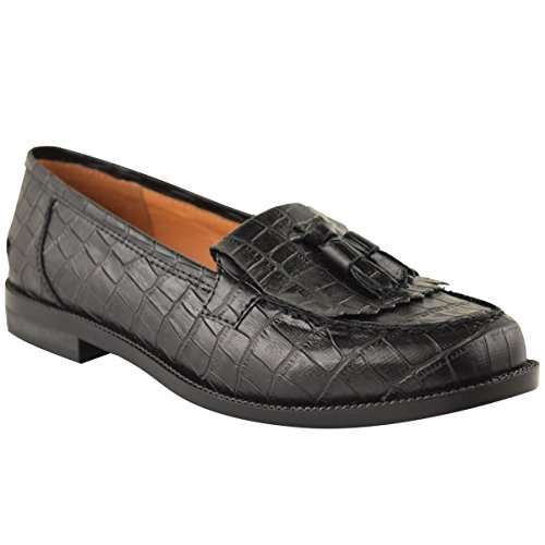 Fashion Thirsty Womens Loafers Flat Casual Office Work School Fringe Tassel Dress Shoes Size