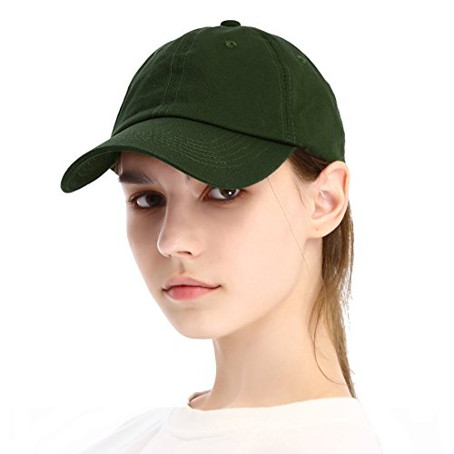 Unisex Vintage Classic Baseball Cap for Men and Women Cotton Dad Hat Plain Color Low Porfile Snapback Adjustable Black Forest