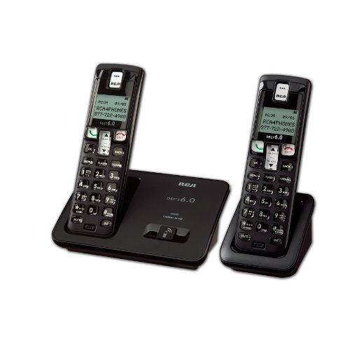 RCA 2101-2BKGA DECT 6.0 Digital Cordless Phone