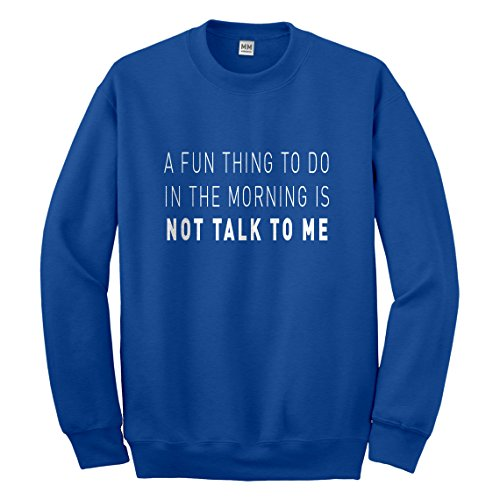 Crew Not Talk to Me Small Royal Blue - Rb 3119