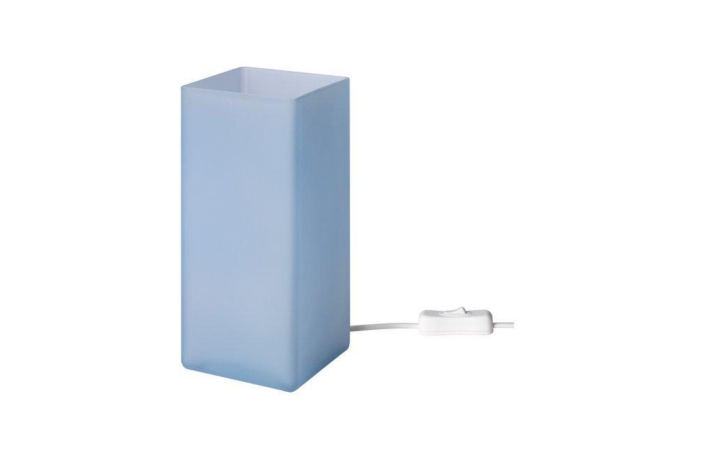 Amazon.com: Grono lámpara de mesa, vidrio esmerilado azul ...