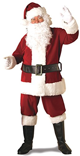 Quality Adult Costumes (Rubie's Adult Deluxe Ultra Velvet Santa Suit With Gloves,)