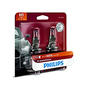 Philips H1 X-tremeVision Upgrade Headlight Bulb, 2 Pack