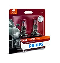 Philips H1 X-tremeVision Upgrade Headlight Bulb with up to 100% More Vision, 2 Pack