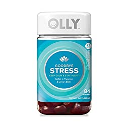 OLLY Goodbye Stress Gummy Supplements, Berry Verbena 1 pack 84 ct
