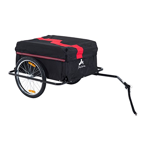 Aosom Elite II Bike Cargo / Luggage Trailer - Red / Black ()