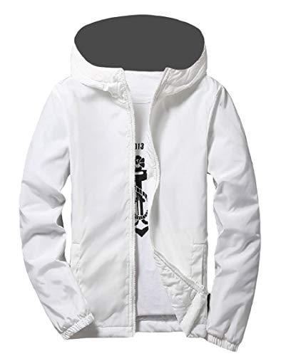 A Vento Pura Mens Outwear Cappotto Cerniera Energia Bianco Varsity Addensare Giacca PEq0pxU8Sw