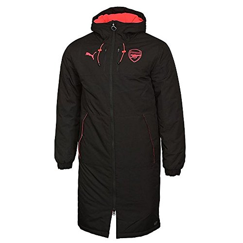 PUMA 2017-2018 Arsenal Long Bench Jacket (Black) - ()