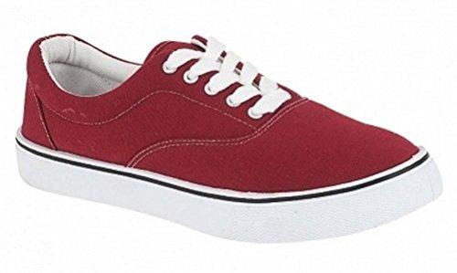 LD Outlet - Zapatillas de skateboarding para hombre rojo - Burgundy
