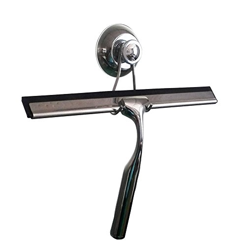 Shower squeegee with hook, ZETOLL Stainless Ste...
