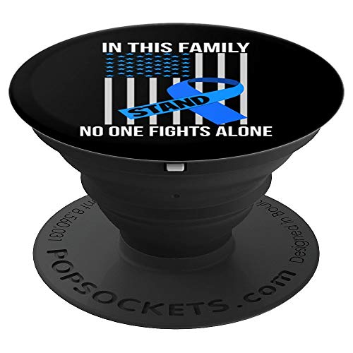 (Colon Cancer Awareness Products Colorectal Awareness Ribbon - PopSockets Grip and Stand for Phones and Tablets)