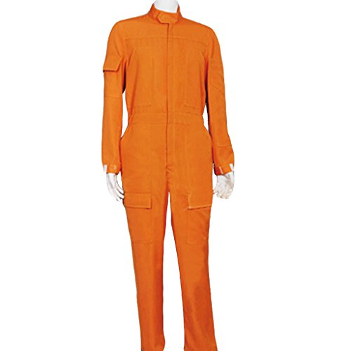 CosplayDiy Men's Orange Jumpsuit for X Wing Pilot Cosplay MTM