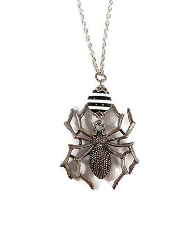 Lg. Spider Necklace - Stripes (Burton Black Necklace)