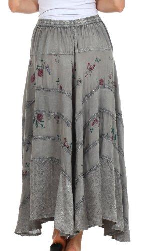 Sakkas 02311 Moon Dance Gypsy Boho Skirt - Charcoal - One Size Photo #5