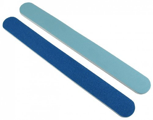 Blue/Lt. Blue 120/240 Washable Nail File 12 Pack